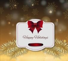 节日快乐圣诞标签