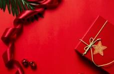 礼品礼盒人物送礼节日背景素材