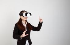 VR眼镜游戏未来科技人物背景