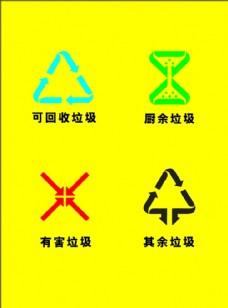 有害垃圾 可回收垃圾 其他垃圾