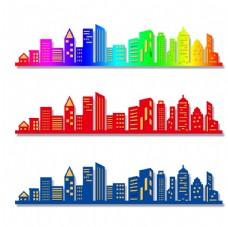 城市 剪影 一套