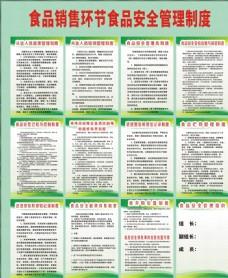 食品销售环节安全管理制度