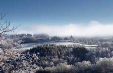 冬季雪山景观