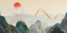 裝飾畫背景墻山河錦繡