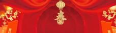 红色节日立体背景海报素材