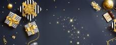 金色传统节日背景海报素材