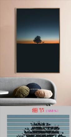 欧式风景树单幅装饰画