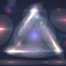 三角形炫酷光效背景