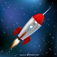 火箭太空中飞行