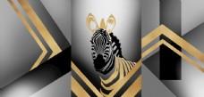 新中式黑白色工业风装饰画