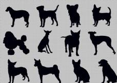 狗剪影動物分層PSD