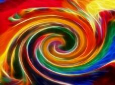 彩虹色旋渦