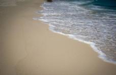 蓝色的 大海 白色的 沙滩