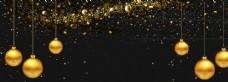 金色铃铛节日背景海报素材