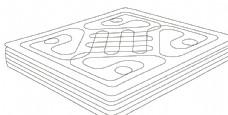 床垫线描图