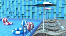 夏天游泳池