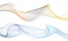 手绘抽象新中式彩色烟雾线条