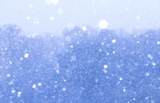 蓝色天空白色雪
