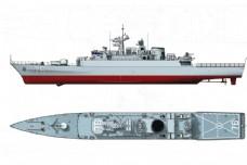 伊朗新型驱逐舰两视图