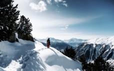 爬雪山 登雪山