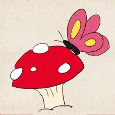 矢量动物 矢量植物 插画 手绘