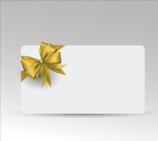 金色丝带礼品卡