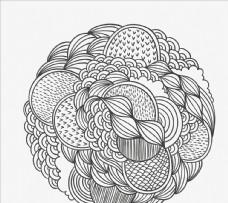 手绘图案圆圈