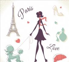 巴黎女人插圖