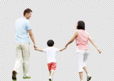 人物家庭旅游合成海报素材