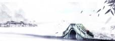 山水水墨壁畫國風古風背景素材