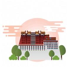 创意城市地标建筑物插画