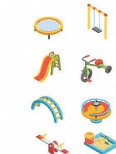 2.5D卡通矢量手繪兒童游樂園
