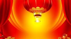 燈籠舞臺節日傳統喜慶背景