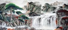 山水水墨國風古風復古背景素材