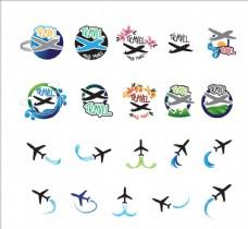 卡通飞机 矢量飞机图标