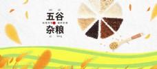 五谷杂粮海报 谷物 豆豆素材