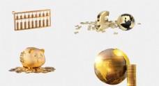 商業地產金色素材黃金金色地球金