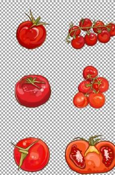 手繪西紅柿