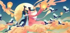 古风人物传统节日插画国风素材