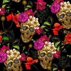 骷髏頭 玫瑰花 數碼印花 女裝