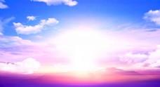 蓝天白云光芒阳光背景