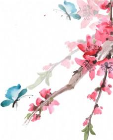 桃花绘画png