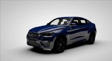 蓝色轿车C4D模型