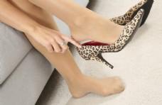 肉色丝袜 美女 高跟鞋 连裤袜