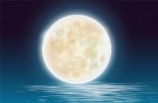 海面月亮节日合成海报素材