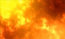 流動的火焰巖漿背景