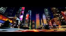 城市霓虹夜景 燈光