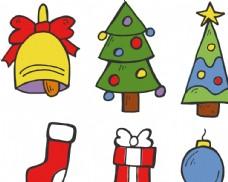 矢量卡通圣诞节装饰用品