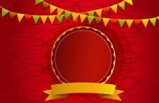 节日红色背景