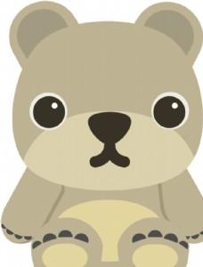 矢量卡通熊玩偶